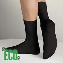 HDI EcoPack frottír pamut fekete sportzokni - 3 pár