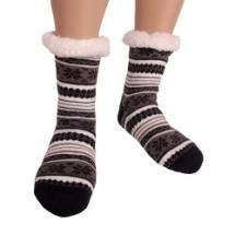 HDI norvégmintás férfi mamusz zokni - sötétkék