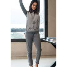 Lotto LP1009 női pamut pizsama - szürke