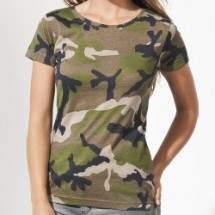 Sols 01187 Camo terepmintás női rövid ujjú póló