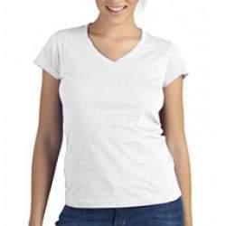 Sols 11388 Moon V nyakú női póló - fehér
