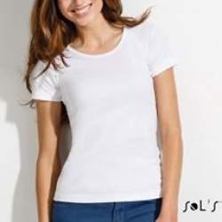 Sols 11830 Lady női környakú póló - fehér