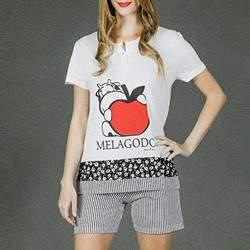 Crazy Farm 15370 női pamut pizsama