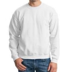 Gildan 18000 unisex kereknyakú pulóver - fehér