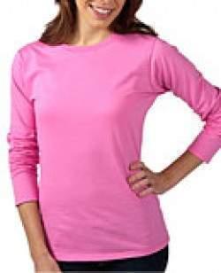 Gildan 64400L hosszúujjú női póló - színes