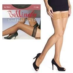 Bellinda Trend Hold Ups 15 csipkés combfix