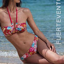 Bellissima Fuerteventura rózsa mintás bikini