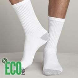 HDI EcoPack frottír pamut fehér sportzokni - 3 pár
