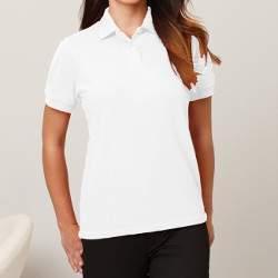 Gildan 94800L női galléros rövid ujjú póló - fehér