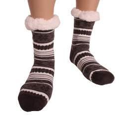 HDI norvégmintás férfi mamusz zokni - sötétszürke