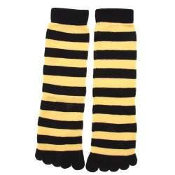 HDI csíkos pamut lábtyű - méhecske