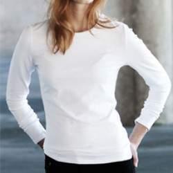 Kariban K328 Carla kereknyakú hosszúujjú póló - fehér