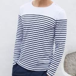 Kariban K366 férfi csíkos hosszú ujjú póló