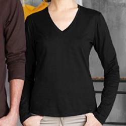 Kariban K382 női V nyakú hosszúujjú póló