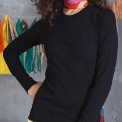 Kariban K328 Carla kereknyakú hosszúujjú póló - színes