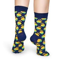 Happy Socks LIM01 lime mintás zokni