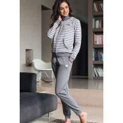 Lotto LA3004 női pamut pizsama - szürke