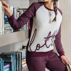 Lotto LP1009 női pamut pizsama - bordó