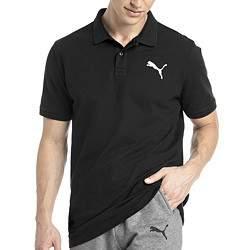 Puma ESS Pique férfi galléros póló - fekete