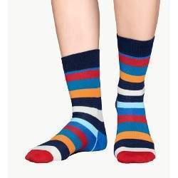 Happy Socks SA01 csíkos mintás zokni