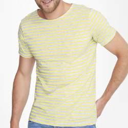 Sols 01398 férfi csíkos rövid ujjú póló
