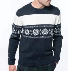 Kariban K996 férfi norvégmintás pulóver
