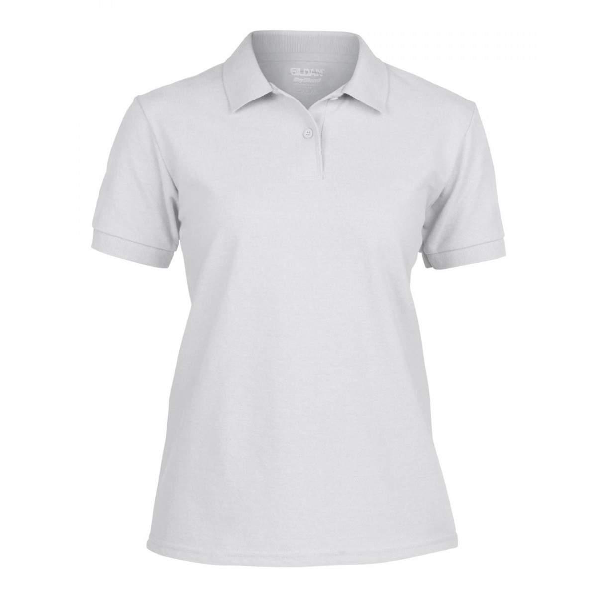 Gildan 94800L női galléros rövid ujjú póló - fehér -   hdiShop.hu   f2fa234bdf