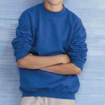 Gildan 18000B gyerek kereknyakú pulóver - színes