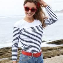 Kariban K386 női csíkos hosszú ujjú póló