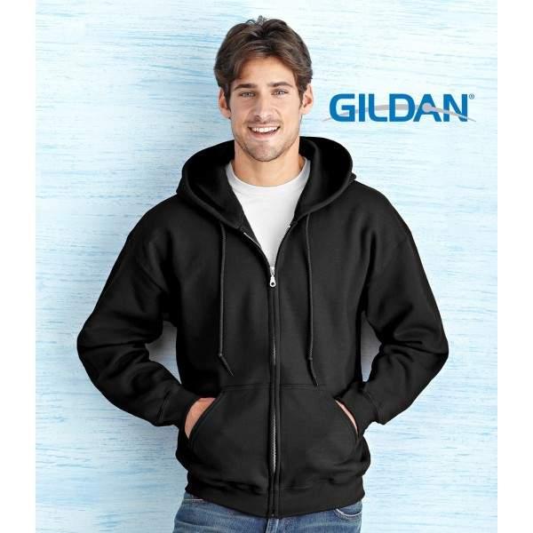 Gildan 18600 cipzáros kapucnis pulóver -   hdiShop.hu   66b2c76ba2