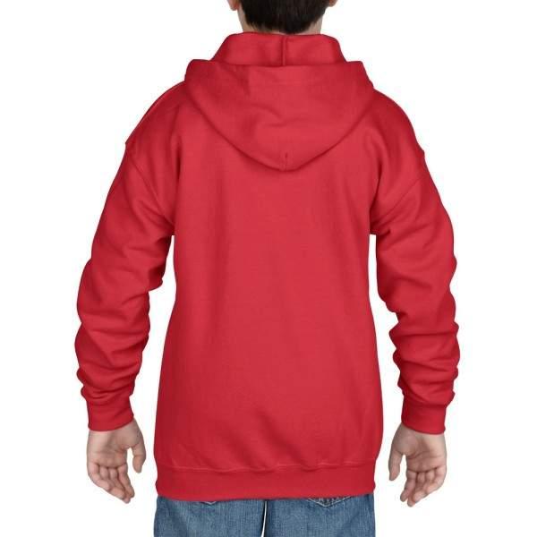 Gildan 18600B gyerek cipzáros kapucnis pulóver