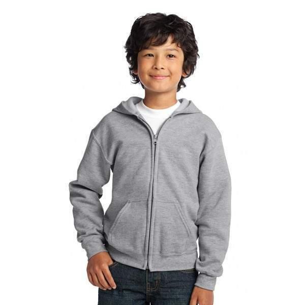 Gildan 18600B gyerek cipzáras kapucnis pulóver -   hdiShop.hu   47dd36deb3