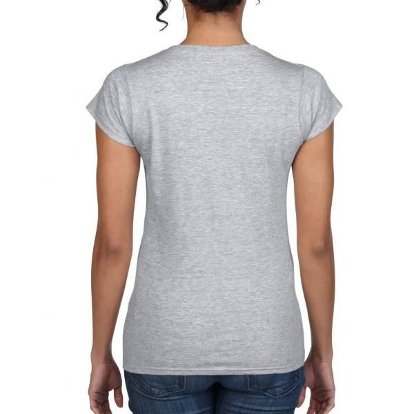 Gildan 64V00L női V-nyakú rövid ujjú póló