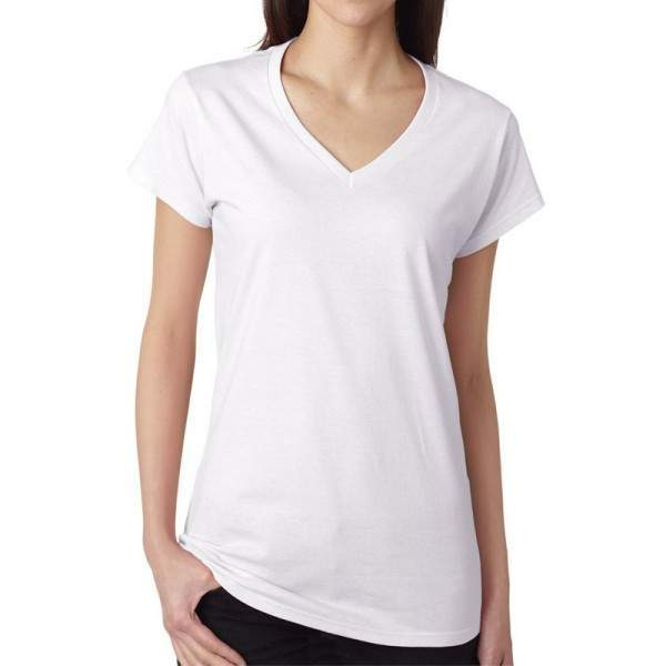 Gildan 64V00L V nyakú női póló - fehér -   hdiShop.hu   3b4c5aee5e