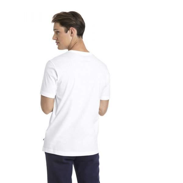 Puma ESS Small Logo Tee férfi póló - fehér