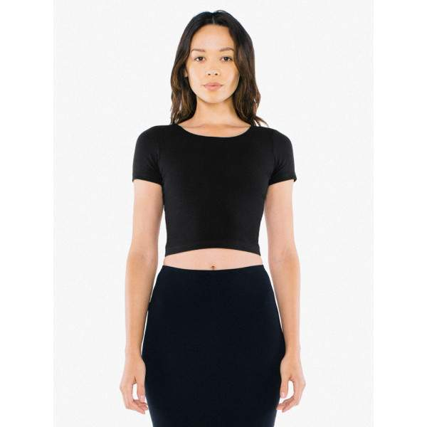American Apparel RSA8380W Crop Top haspóló