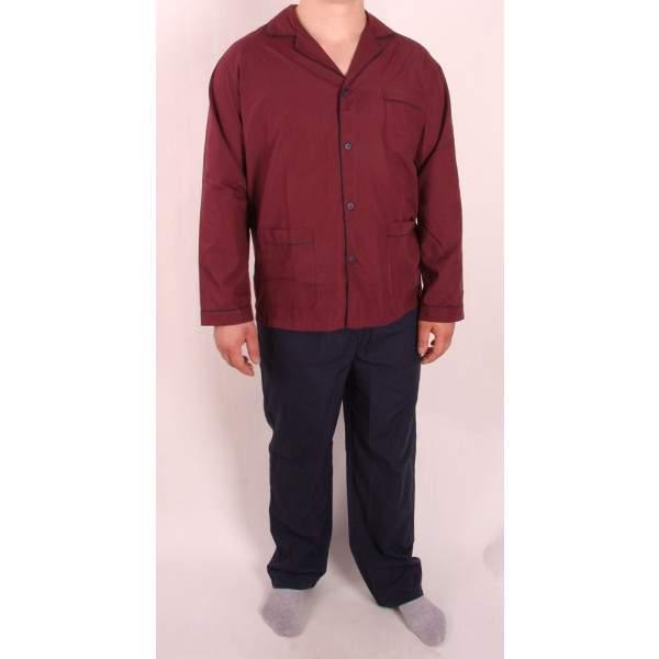 Diplomat WO501 férfi pizsama- bordó -   hdiShop.hu   227131eeab