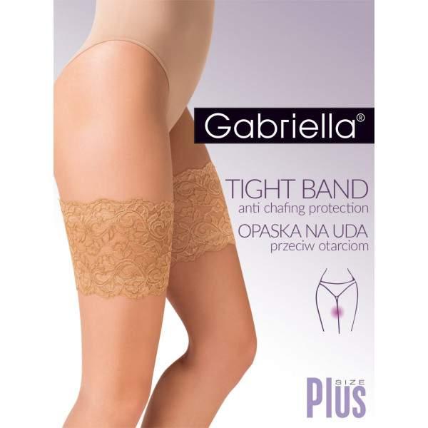 Gabriella 8799 Thigh Band combvédő csipkeBézs oldalról