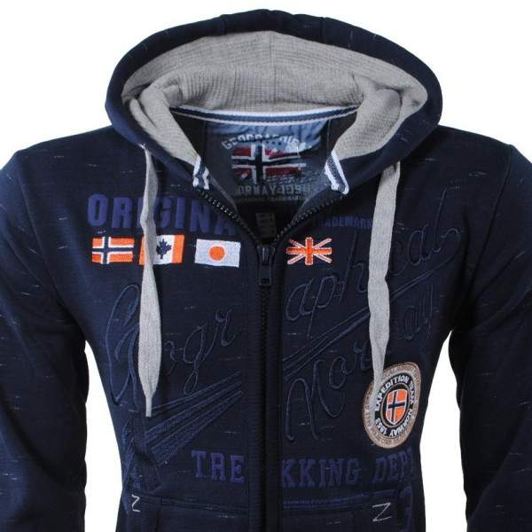 Geographical Norway Foliday cipzáros kapucnis pulóver