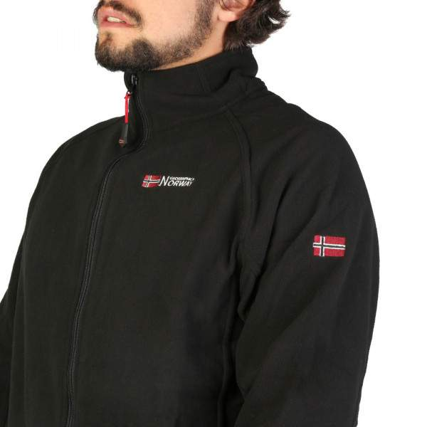Geographical Norway Tug cipzáros polár pulóver - fekete