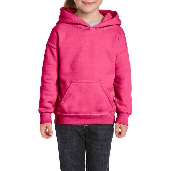 Gildan 18500B rózsaszín gyerek kapucnis pulóver - AKCIÓS!