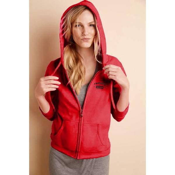 Gildan 18600PR női cipzáros kapucnis pulóver -   hdiShop.hu   3812e79a1e