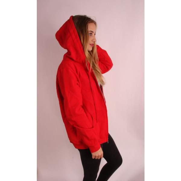 Gildan 18600PR női cipzáros kapucnis pulóver