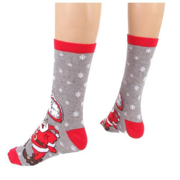 HDI karácsony mintás frottír zokni