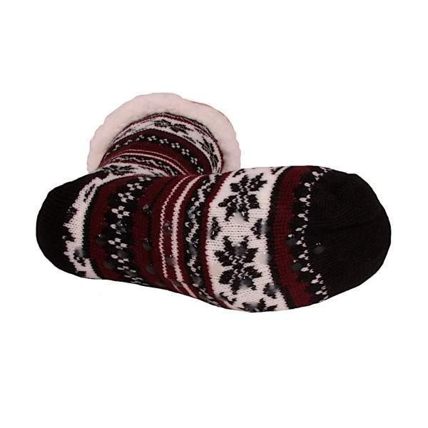 HDI norvégmintás férfi mamusz zokni - bordó