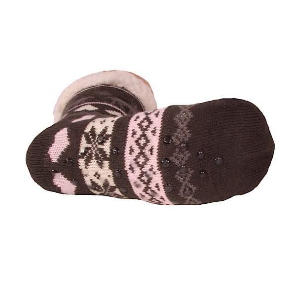 HDI rénszarvasos női mamusz zokni - sötétszürke