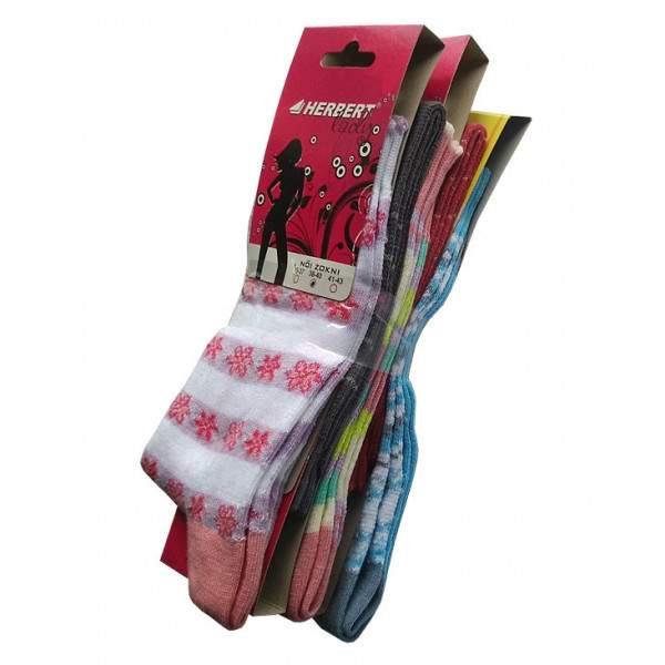 Herbert pamut felnőtt zokni - lányos minták - 5 pár