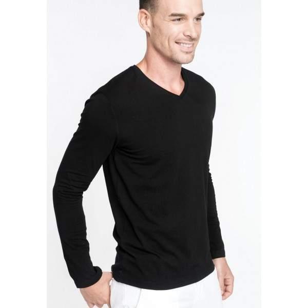 Kariban K355 férfi V-nyakú hosszú ujjú póló -   hdiShop.hu   00383b105c