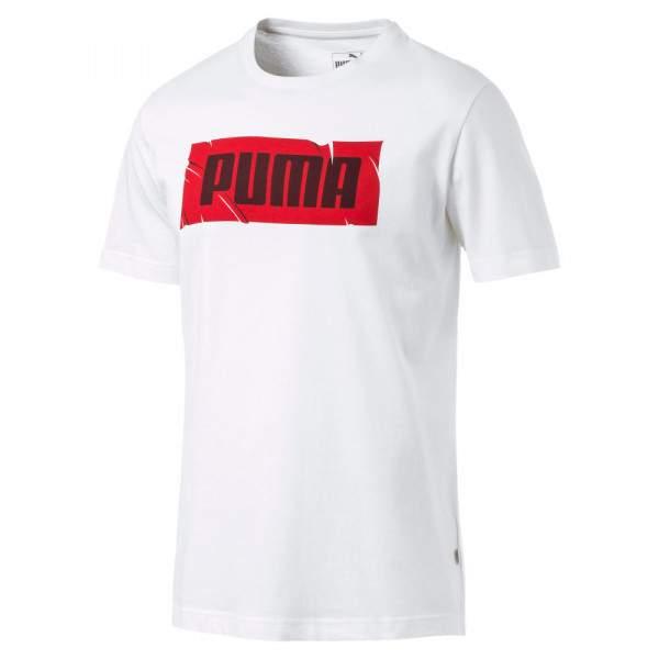 Puma Wording Tee férfi póló - fehér -   hdiShop.hu   64cccb7107