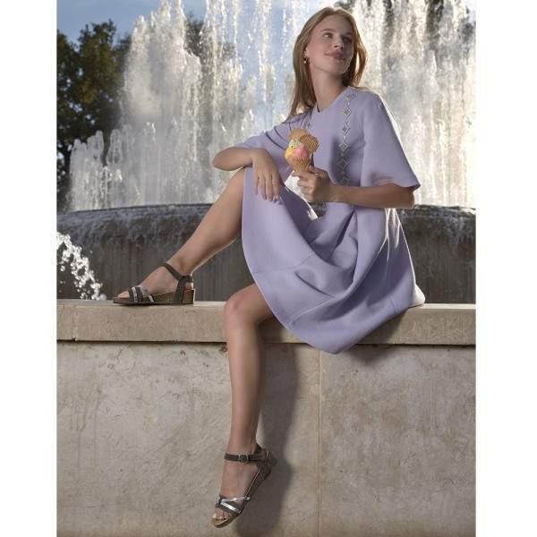 Scholl Kelly női szandál - sötétszürke